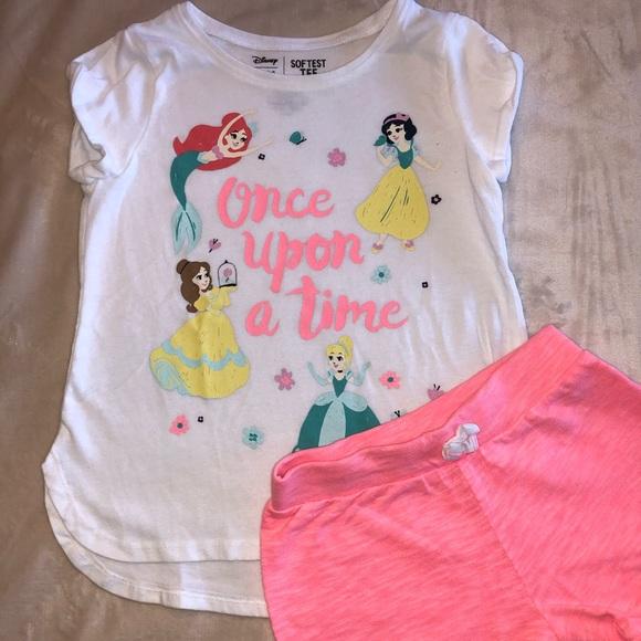 Girls princess short set
